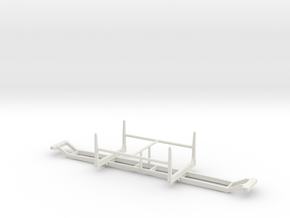 1/64th Short log conversion aka Hayrack trailer in White Natural Versatile Plastic