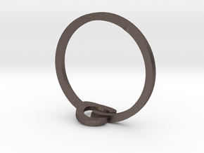 POWER ring in Polished Bronzed-Silver Steel: 3 / 44