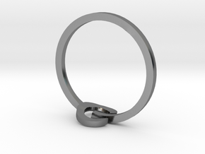 POWER ring in Polished Silver: 3 / 44