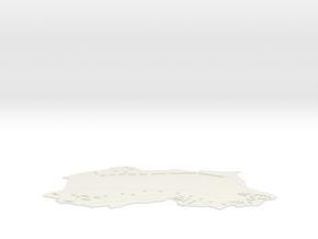 1/3000 Scale Pearl Harbor Ford Island WW2 in White Natural Versatile Plastic
