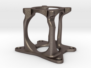 Motor mount: Nema 23 to BF16 Zaxis in Polished Bronzed-Silver Steel