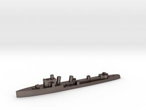 Italian Euro destroyer WW2 1:3000 in Polished Bronzed-Silver Steel
