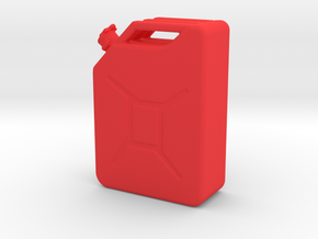 Jerrycan in Red Processed Versatile Plastic