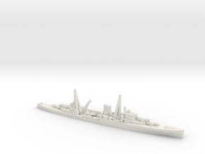 British Leander-Class Cruiser in White Natural Versatile Plastic