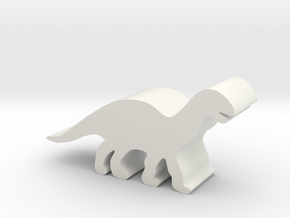 Dinosaur Island Meeple - Mussaurus 2 in White Natural Versatile Plastic