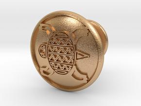 Tortise Cufflinks in Natural Bronze