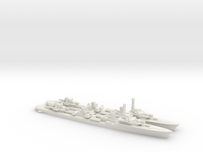 French Le Fantasque-Class Destroyer in White Natural Versatile Plastic: 1:1800