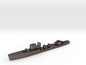 Italian Vega torpedo boat 1:3000 WW2 in Polished Bronzed-Silver Steel