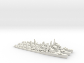 Japanese Hatsuharu-class Destroyer (x3) in White Natural Versatile Plastic