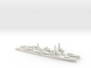 Japanese Asashio-Class Destroyer (x2) in White Natural Versatile Plastic