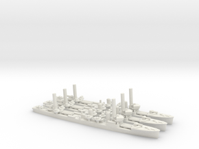 Japanese Mutsuki-Class Destroyer (x3) in White Natural Versatile Plastic