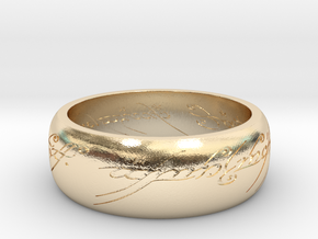 LOTR_Ring in 14k Gold Plated Brass