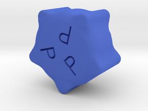 10-32 PROPELLER KNOB in Blue Processed Versatile Plastic
