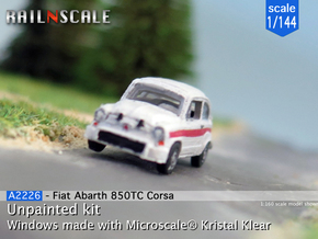 Fiat Abarth 850 TC Corsa (1/144) in Smooth Fine Detail Plastic