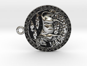 Taurus-Medaillon in Antique Silver