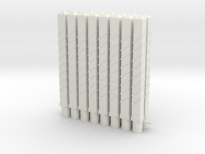 piquet 4 trais  PN 16 pieces in White Natural Versatile Plastic: 1:43.5