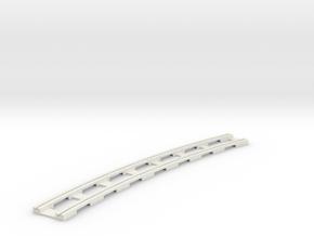p14tr-curve-2r-long in White Natural Versatile Plastic