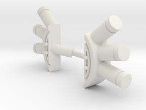 Mauler Gas Grenade Launcher - Full Set in White Natural Versatile Plastic