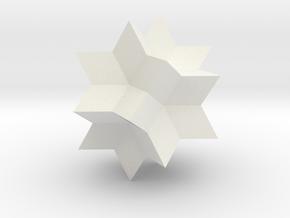 Rhombic Hexecontahedron in White Natural Versatile Plastic