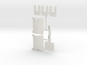 Skystriker Landing Gear Clips and Covers in White Natural Versatile Plastic