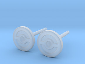 Pokeball Earrings - Full in Smooth Fine Detail Plastic: Extra Small