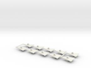 Cliff Hanger Bonnets in White Natural Versatile Plastic
