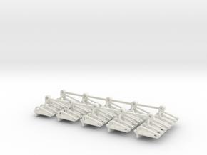 Cliff Hanger Tubs in White Natural Versatile Plastic