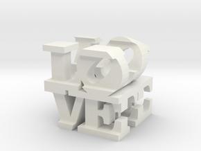 love/life - extralarge (25cm) in White Natural Versatile Plastic