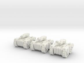 6mm - Urban Brute tank in White Natural Versatile Plastic