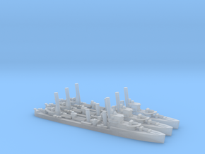 British G/H-Class Destroyer (x3) in Smooth Fine Detail Plastic