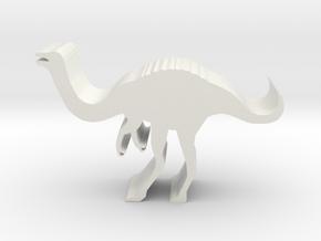 Dinosaur Island Meeple - Gallimimus in White Natural Versatile Plastic