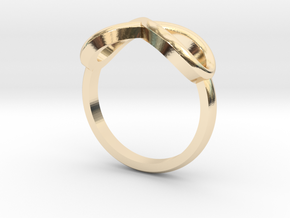 Simple infinity ring  in 14K Yellow Gold
