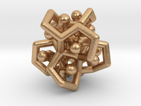 Flower Of Twist as a Cage in Natural Bronze (Interlocking Parts)