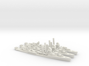 US Bagley-Class Destroyer (x3) in White Natural Versatile Plastic