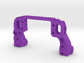 TRX-4 V2 servo on axle mount and 4-link adapter in Purple Processed Versatile Plastic