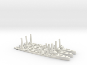 US Sampson-Class Destroyer (x3) in White Natural Versatile Plastic