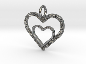 Heart 2 Heart in Polished Silver