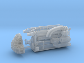 1950 Alfa 158 engine and grille - 1/24 scale in Smooth Fine Detail Plastic