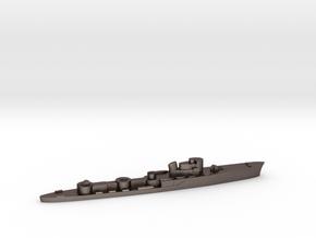 Italian Aliseo torpedo boat 1:1800 WW2 in Polished Bronzed-Silver Steel