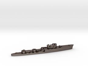 Italian Aliseo torpedo boat 1:3000 WW2 in Polished Bronzed-Silver Steel