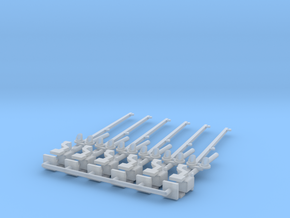 N Scale Crossing Gates 2 lanes LED 6pc in Smooth Fine Detail Plastic