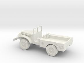 1/87 Scale Dodge WC-51 in White Natural Versatile Plastic