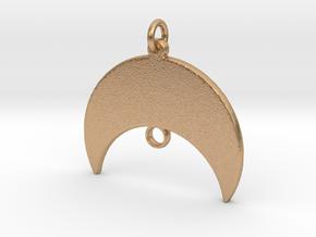 Starship Pendant - Keychain in Natural Bronze
