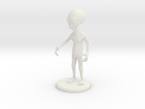 "Area 51 ""The Grey"" Alien 4.25"" Figure with Base in White Natural Versatile Plastic"