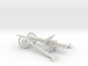 1/32 IJA Type 92 105mm Field Gun in White Natural Versatile Plastic