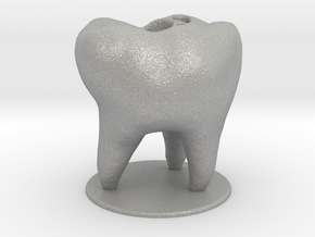 Tooth Toothbrush Holder in Aluminum