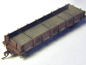 Pacific Coast Railway Nn3 Gondola Body in Smooth Fine Detail Plastic