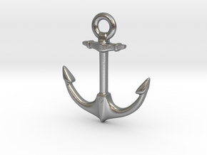 Anchor of Hope  in Natural Silver