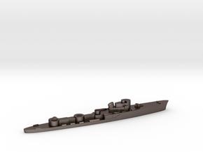 Italian Groppo torpedo boat 1:1800 WW2 in Polished Bronzed-Silver Steel