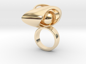 122 ring in 14k Gold Plated Brass